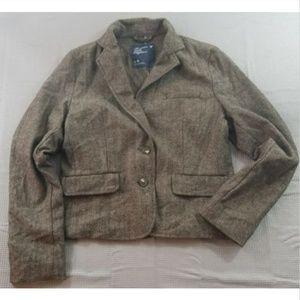 American Eagle Large Wool Blend Houndstooth Blazer